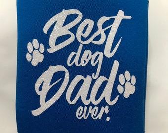 Royal Blue KOOZIE®, white glitter, dog, dog dad, furry, puppy, everyday use, beverage holder