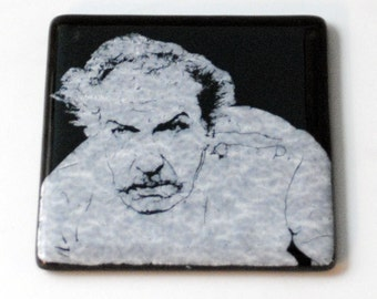 Vincent Price Fused Glass Coaster