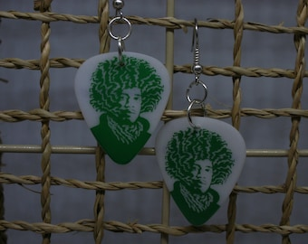 Jimi Hendrix Guitar Pick Earrings