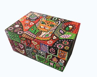 Jewelry box with the red cat