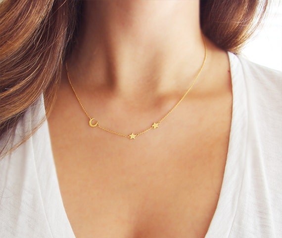 layering or item personalized double set delicate initial strand silver layered gold necklace
