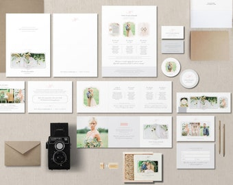 INSTANT DOWNLOAD! Printable Marketing Templates for Photographers - Creative Business Card Design - Pricing Guides & Branding Templates