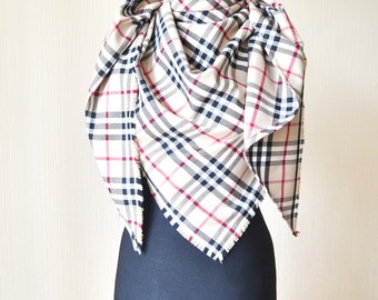 wool blanket scarf outdoors gift birthday gift|for|her blanket scarf plaid womens scarves beige scarf tartan scarf gift|for|coworker
