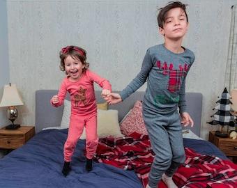 Custom Christmas Pajamas, Holiday Pajamas, Christmas pj for family, plaid, reindeer pajama, family pajamas, kids Christmas pajamas, pjs