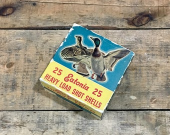 Vintage Eatonia 12 Gauge Shotgun Shell Box / Ammo / Duck / Quial / Goose