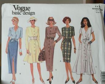 1171 Vintage Vogue Basic Design Dress Pattern size 14-16-18