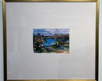Landscape Gouche on Paper