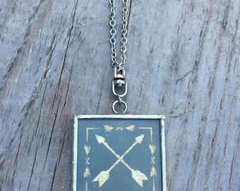 Reversible Arrow Necklace