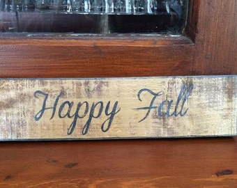 Happy Fall ~ handmade rustic wooden sign