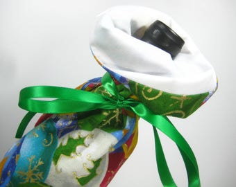 Christmas Ornaments, Class Wrap Wine Gift Bag