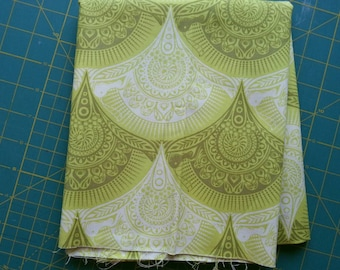 1/2 Yard Prince Charming Snail Scallop in Olive by Tula Pink for Free Spirit, OOP and VHTF