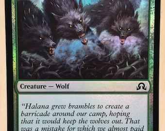 Thornhide Wolves *FOIL*, Limited edition MTG Artist proof, By Scott Murphy