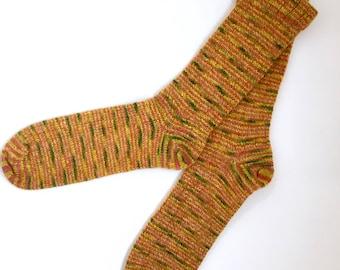 Handmade Wool Socks 447 -- Men's Size 11-13