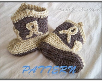 "PATTERN Cowboy Boots Download - Cowboy Boot Pattern - PDF Crochet Baby Cowboy ""Boot""ies- Crochet Booties Pattern - by JoJosBootique"