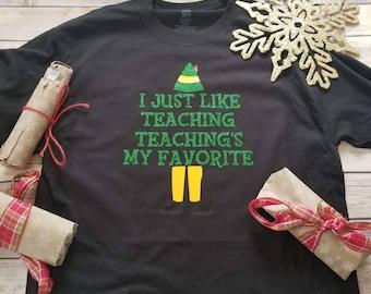 Buddy the Elf Teacher Christmas Shirt