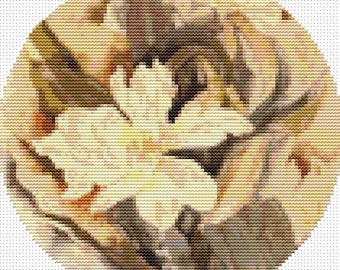 Floral Cross Stitch Kit, Flower by Charles Demuth, CIRCULAR Cross Stitch, Embroidery Kit, Art Cross Stitch