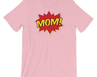 Super Mom Shirt - comic book shirt, superhero shirt, comic pow shirt,  funny mom shirt,  super mom tshirt,  super mom gift