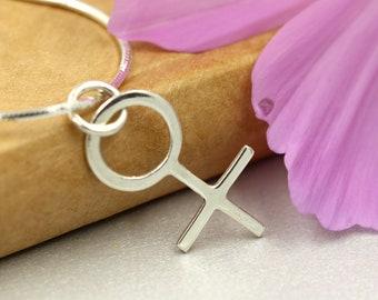Feminist Gift, Female Symbol, Feminist Apparel, Feminist Af, Future is Female, Girl Power, Feminism, Feminist, Silver Necklace, Gift for Her