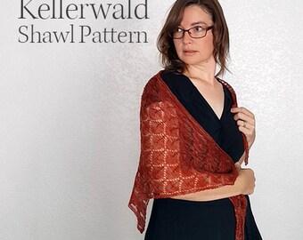 Knit Shawl Pattern - Kellerwald - Shawl Pattern - Adjustable Lace Pattern