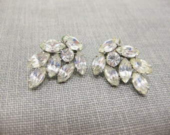 Gorgeous Vintage Rhinestone Clip-on Earrings
