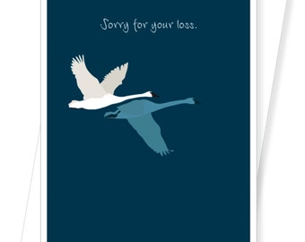 Two Swans Sympathy Card - D190