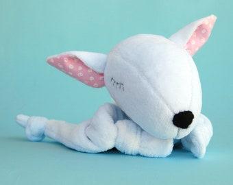 Lovey Security Blanket Personalized Plush Comfort Blanket Dog Lover Gift Baby Shower Baby Bull Terrier