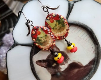 Grumpy Cat Clown Earrings