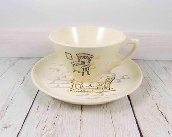 Vintage Cups and Saucers,vintage,cozy scene,plates,cup,mid century modern