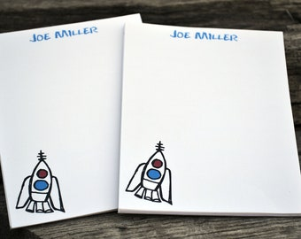 Personalized Notepads / Rocket Notepads / Personalized Notebook / Personalized Rocket Note Pads/ Set of Notepads /  Set of 2 Rocket Notepads