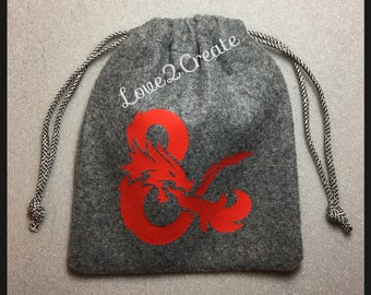 D&D Dice Bag, Dungeons and Dragons Pouch, Dice Pouch