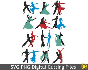 SVG cutting files Vinyl Transfer Ball Dancing Cricut Silhouette Digital Home Party Decoration Template Decor Cards Scrapbooking  89VR