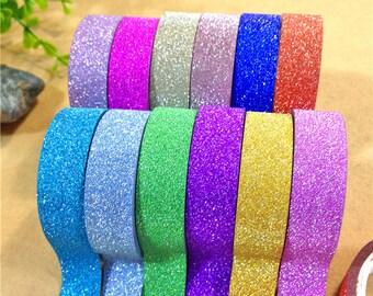 Adhesive glitter - 15 mm x 4 m - silver