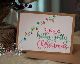 5x7 Holly Jolly Christmas Card