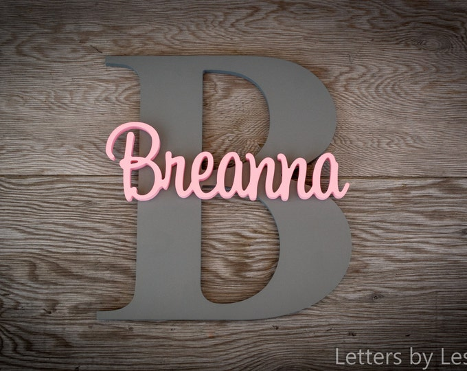 Nursery Wall Decor, Wooden Name Sign, Baby Girl Nursery, Baby Boy Nursery, Baby Name Sign, Nursery Name Sign, Personalized Sign, Wood Letter