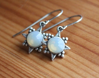 North Star Earrings - Swarovski Crystal - Surgical Steel Earwires - Your Choice of Crystal Color