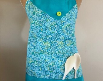 Apron - Daisies, Daisies  and More Daisies Lined Apron