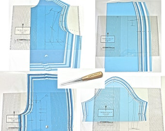 Ensemble de gradation de patron, Pattern Grading ruler set.