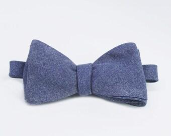 Denim Self Tie Bow Tie
