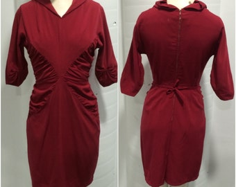 1940s Blood Red Dress