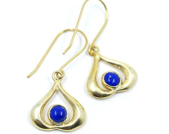 Lapis Lazuli Gold Plated Leora Earrings