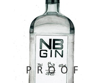 Northberwick Gin - Limited Edition Giclée Print of my original watercolour