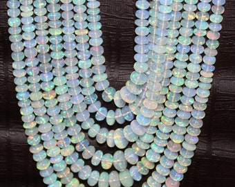 Natural Ethopian Opal Beads Rondelle Shape Size Approx 3 MM to 7 MM Lenght Approx 16''inch New Arrival Wholesale price