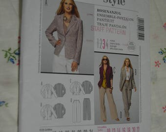 Burda 7559 Misses Pantsuit - Jacket and Pants Sewing Pattern  - UNCUT - Size 10 12 14 16 18 20 22