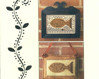 Carriage House Samplings: Big Fish - Cross Stitch Pattern