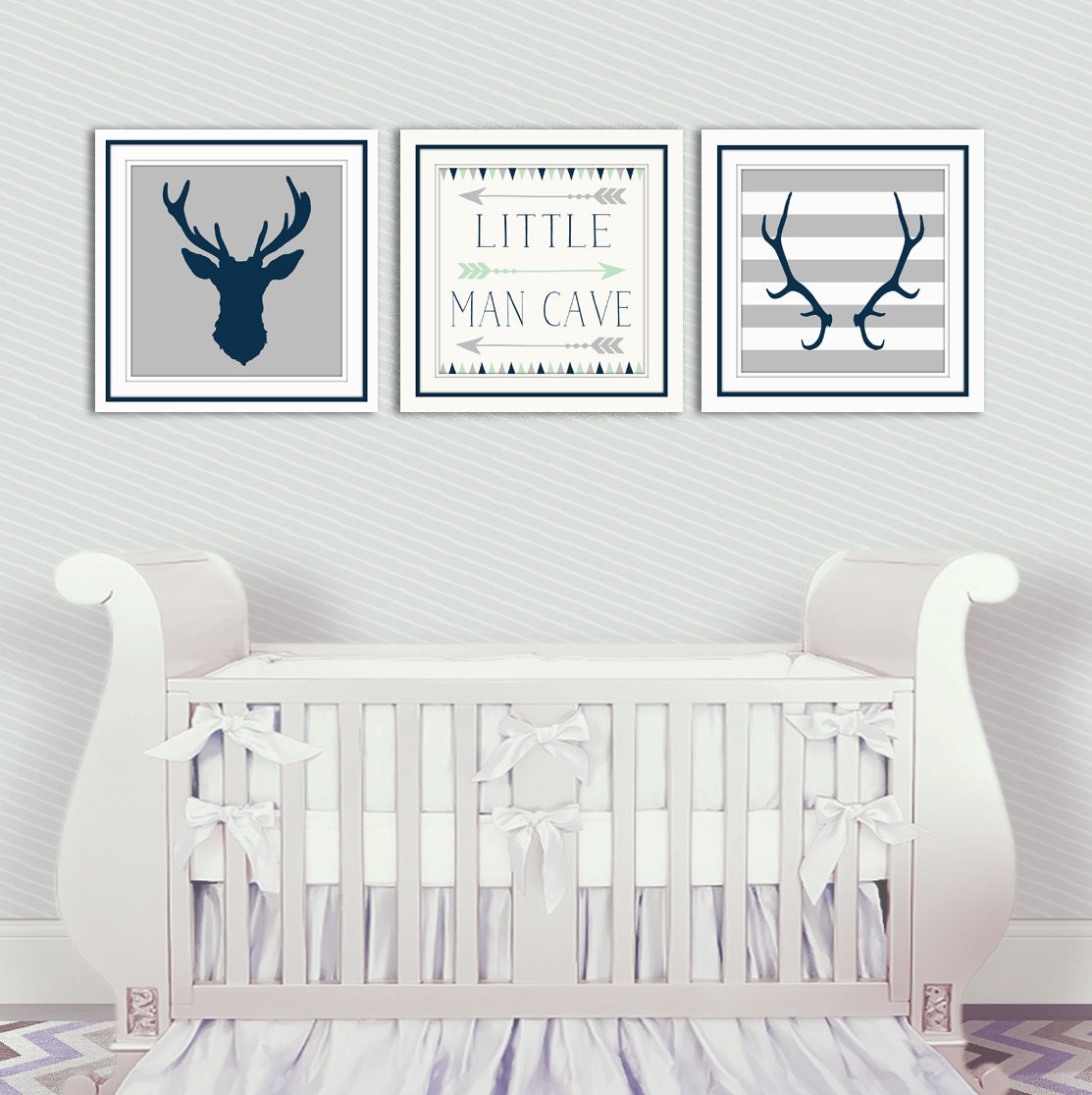 Baby Room Ideas Nursery Themes And Decor: Baby Boy Nursery Decor Antlers Deer Head Arrows Little