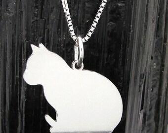 Cat Silhouette pendant, Cat Silhouette Pendant # 3