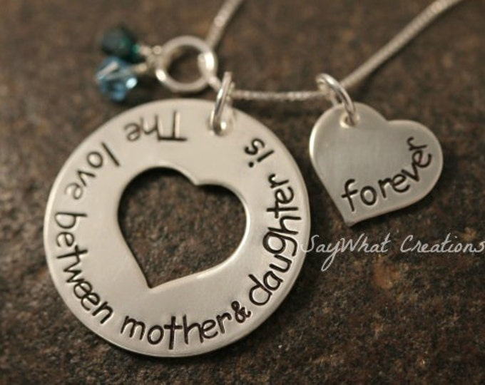 The Love Between Mother & Daughter is Forever Necklace