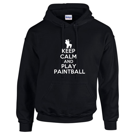 Keep Calm And Play Paintball Mens Hoodie Funny Humor ejuKiUxdo