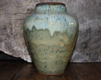 Ceramic vase large, Stoneware vase,