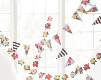 Boho Floral Banner - Boho Floral Garland - Boho Party Garland - Boho Wedding Decorations - Boho Floral - Boho Wedding Decor BTP405